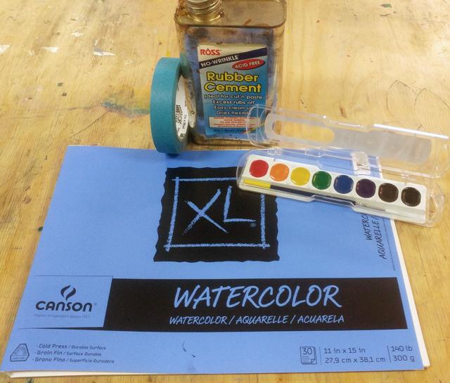 watercolor resist supplies