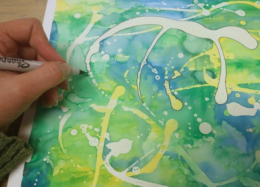 Watercolor restis play pen